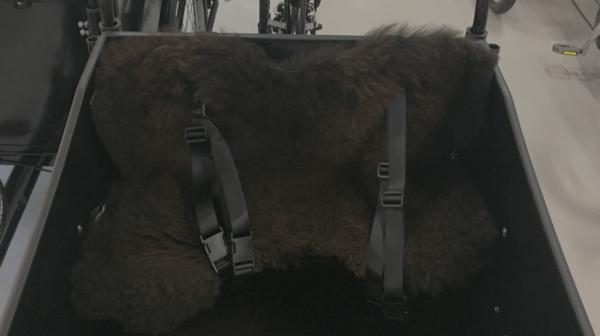 Lådcykel Kudde tillverkad av lammskinn