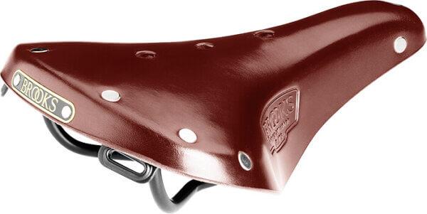 Sadel Brooks - brunt läder Amladcyklar