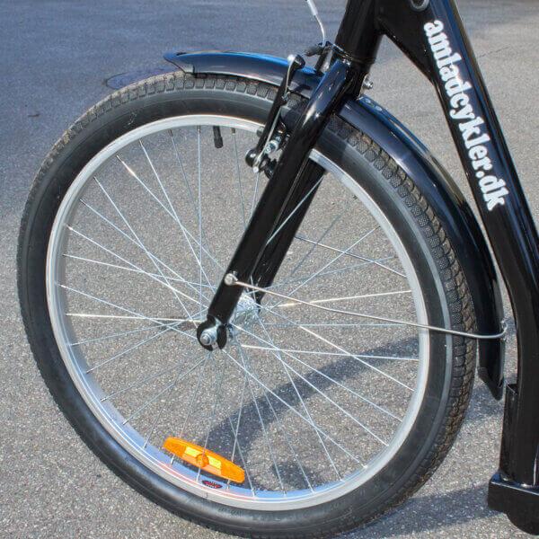 Framhjul 24″ för El Trehjuling Vuxen inklusive motor - 9 pins